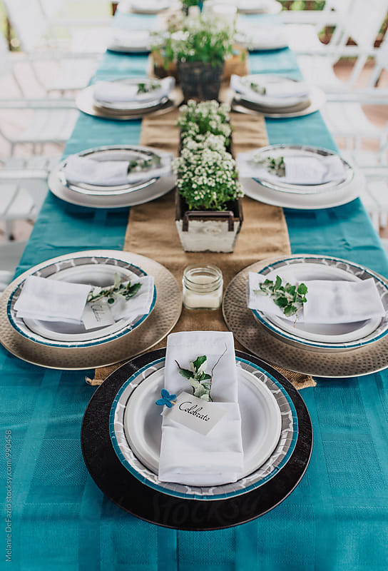 Rustic table  by Melanie DeFazio for Stocksy United