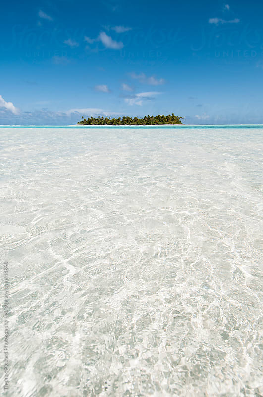 Island and lagoon, Aitutaki Island, Cook Islands. by Thomas Pickard for Stocksy United