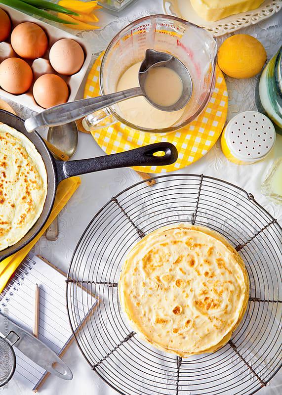 Pancakes. by Rachel Dewis for Stocksy United