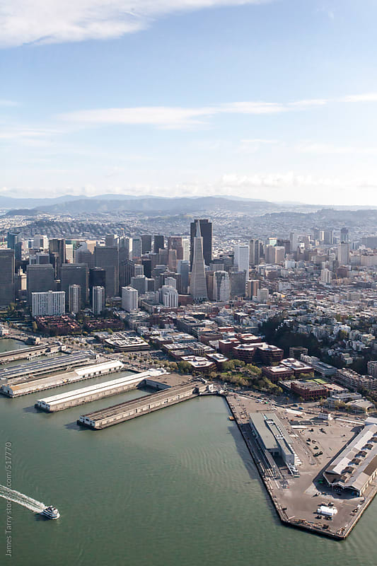 Aerial San Fran Cityscape by James Tarry for Stocksy United