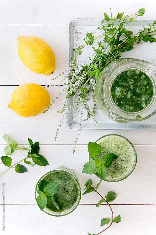 Frozen mint lemonade by Pixel Stories for Stocksy United