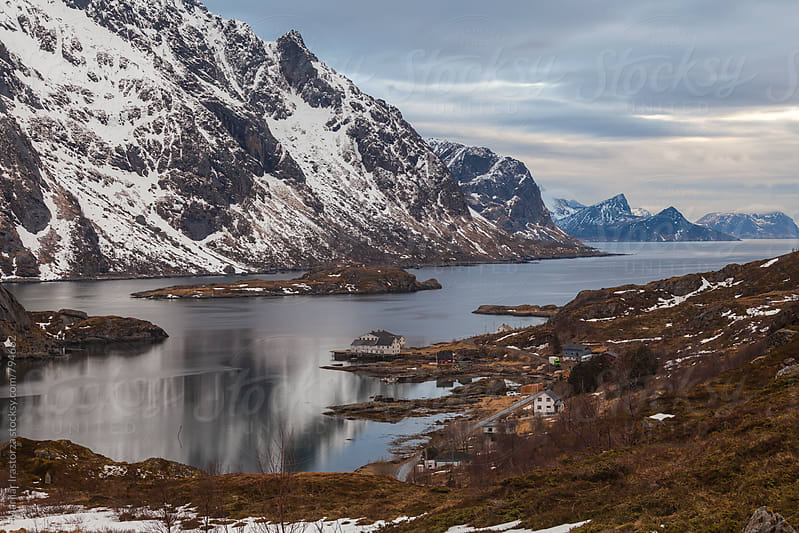 View of a village in Lofoten by Marilar Irastorza for Stocksy United