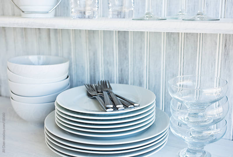 White Dishes and Glassware by Jill Chen for Stocksy United