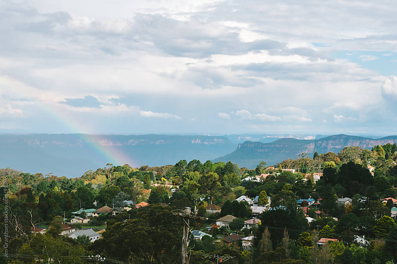 Rainbow over the Blue Mountains by Jen Grantham for Stocksy United