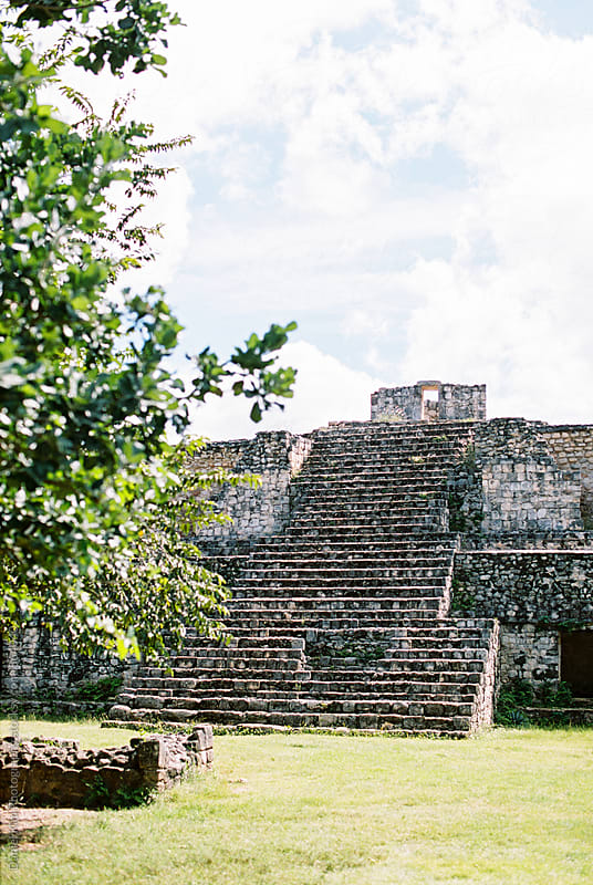 Mayan ruins by Daniel Kim Photography for Stocksy United