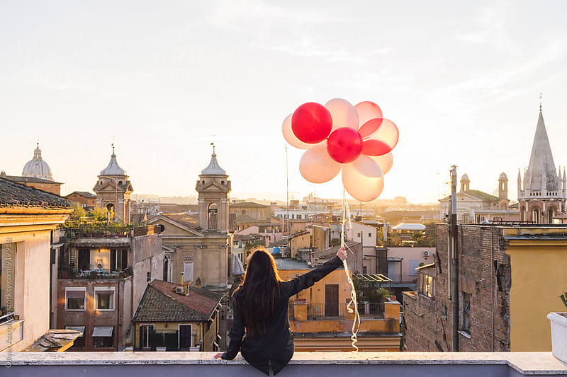 Balloons over Roma by Oliver Astrologo for Stocksy United