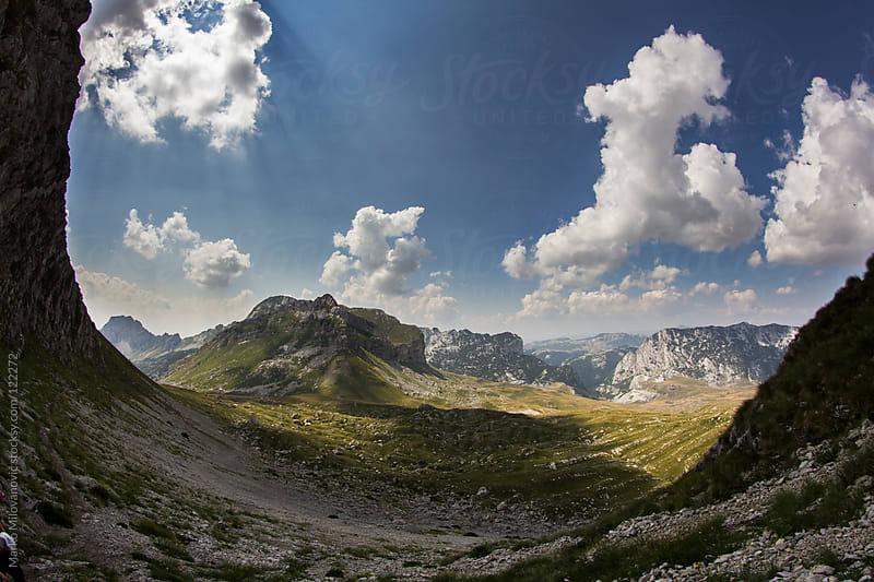 Sunny mountain landscape by Marko Milovanović for Stocksy United