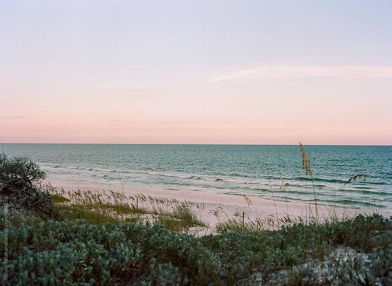 Ocean view of Deer Lake in Santa Rosa, Florida by Nicole Mlakar for Stocksy United
