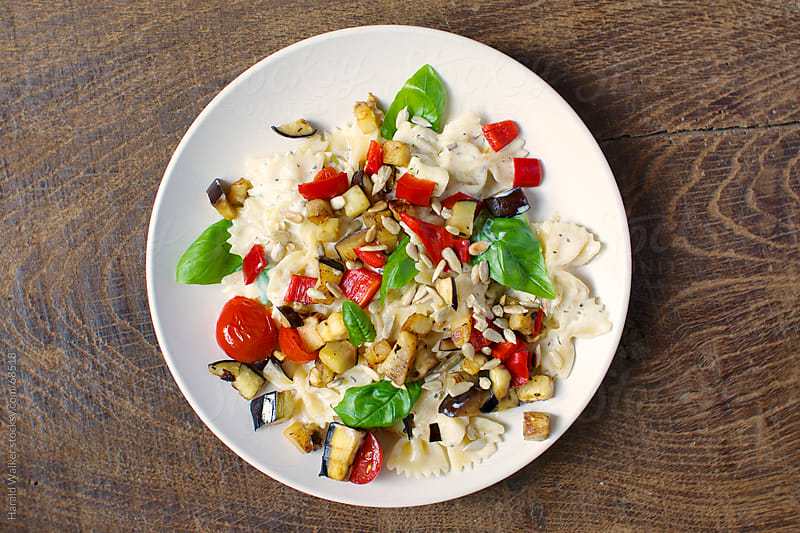 Creamy Pasta with Eggplant by Harald Walker for Stocksy United