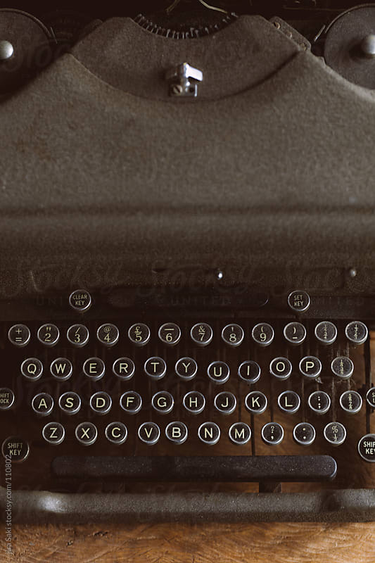 old typewriter by jira Saki for Stocksy United
