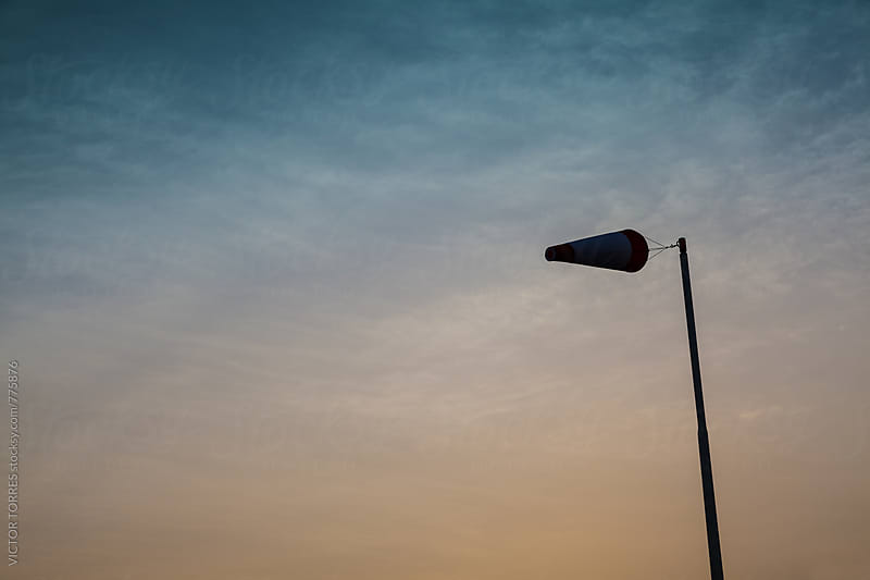 Windsock at Sunset by VICTOR TORRES for Stocksy United