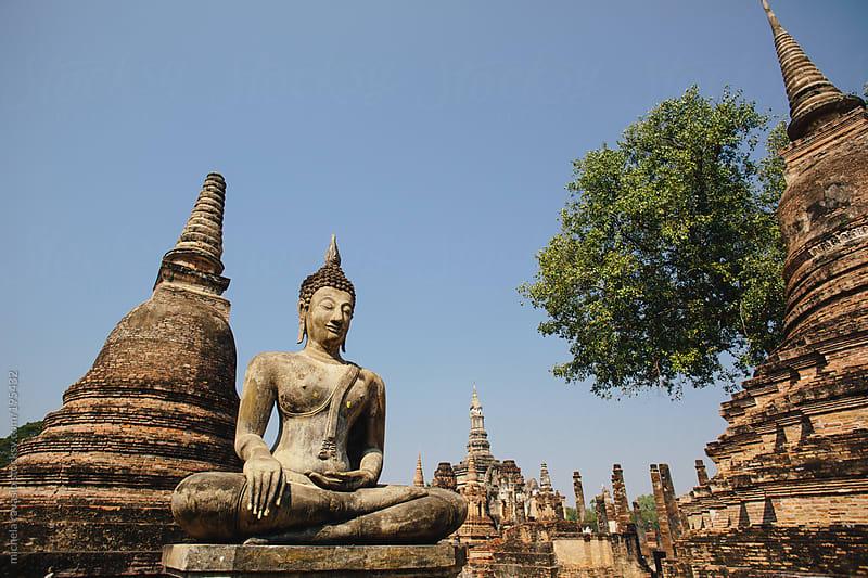 Buddha statue in Sukhothai Historical Park by michela ravasio for Stocksy United