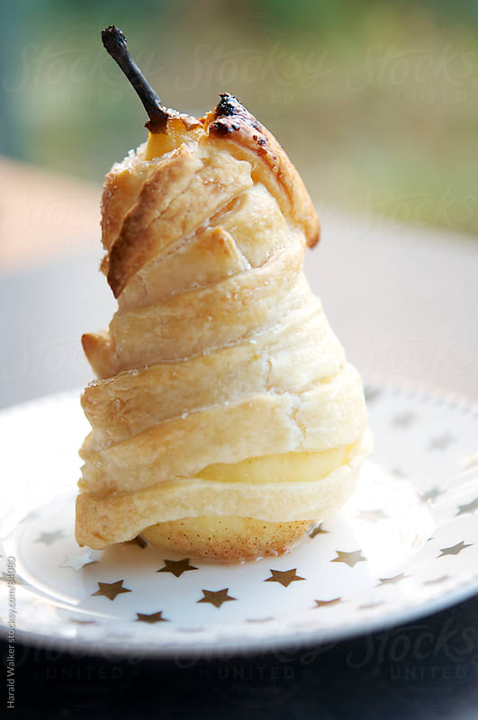 Baked Nut Filled Pears en Croute with Lemon Syrup by Harald Walker for Stocksy United