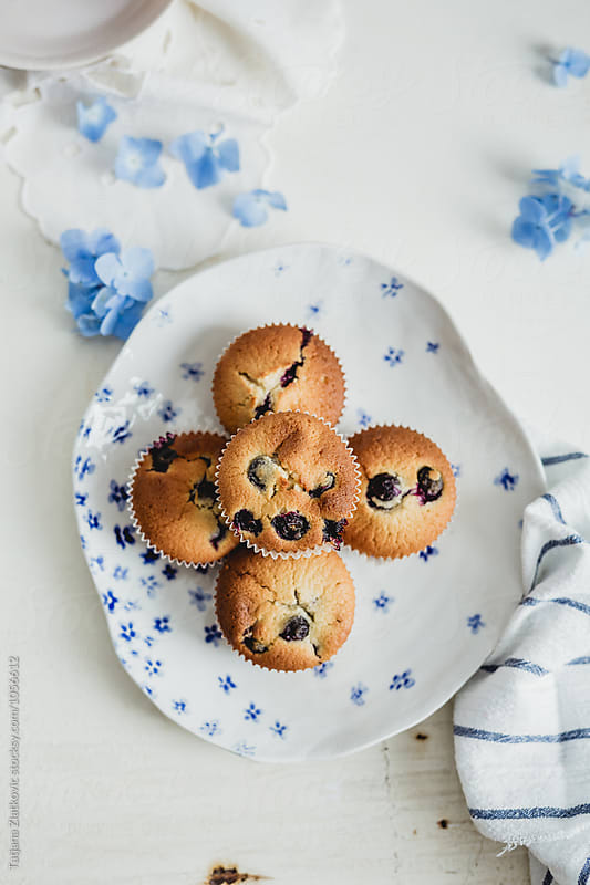 Blueberry muffins by Tatjana Ristanic for Stocksy United