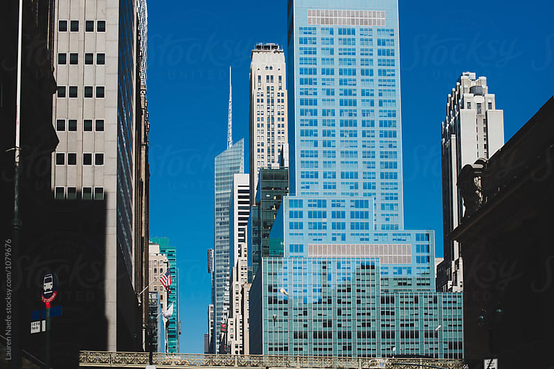 Bridge and architecture in Midtown Manhattan by Lauren Naefe for Stocksy United
