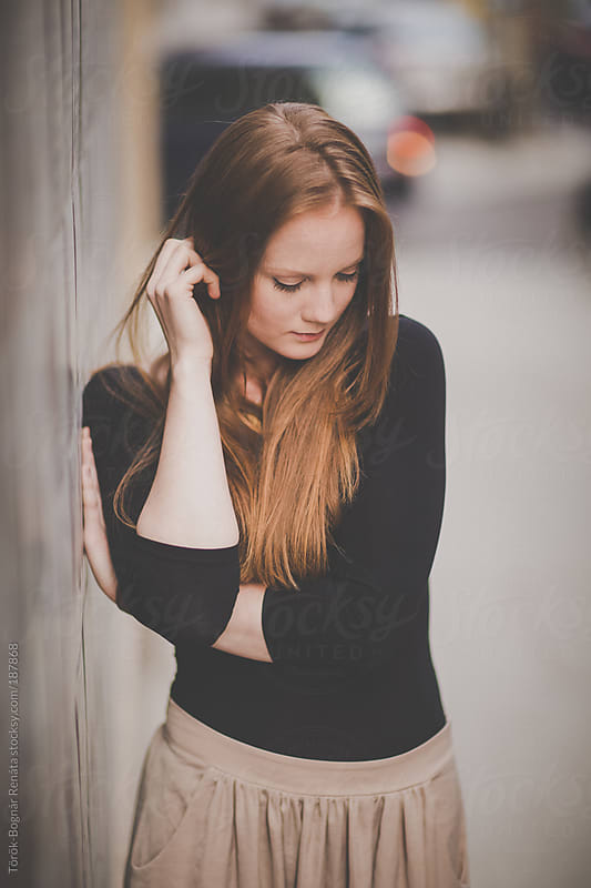 Beautiful red-haired young woman by Török-Bognár Renáta for Stocksy United