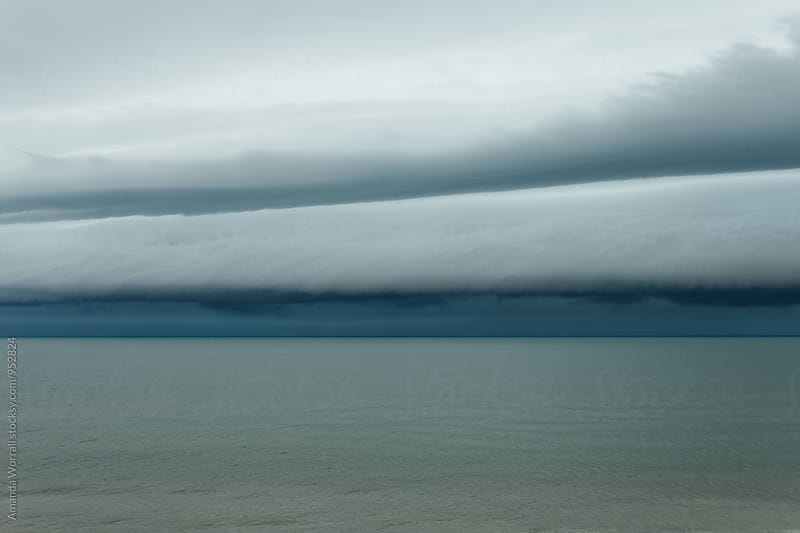 Tropical storm clouds over the Gulf of Mexico by Amanda Worrall for Stocksy United