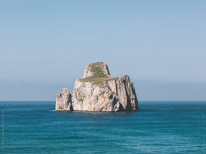 Pan di Zucchero (Sugarloaf Rock), Sardinia, Italy  by Luca Pierro for Stocksy United