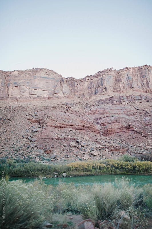 Colorado River in the morning by michelle edmonds for Stocksy United