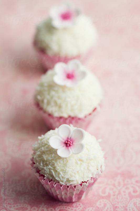 Coconut cupcakes by Ruth Black for Stocksy United