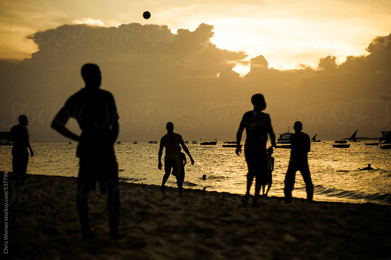 Sunset soccer by Chris Werner for Stocksy United