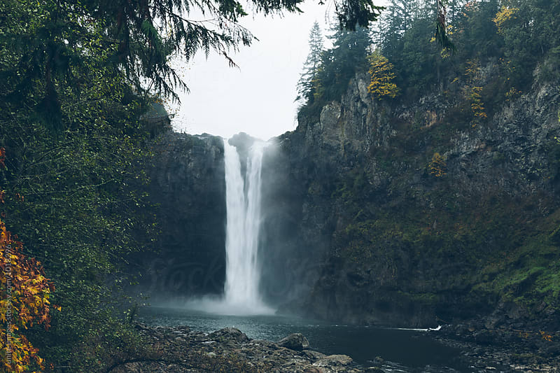 Snowqualmie Falls by yuanyuan xie for Stocksy United