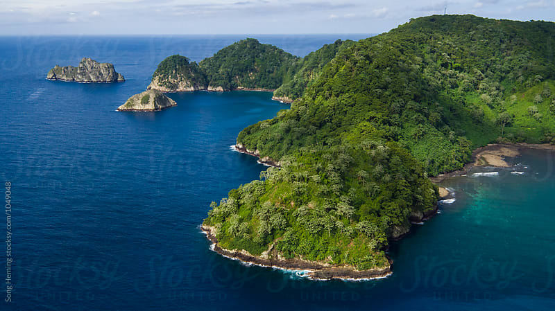 Beautiful aerial view of Cocos island by Song Heming for Stocksy United