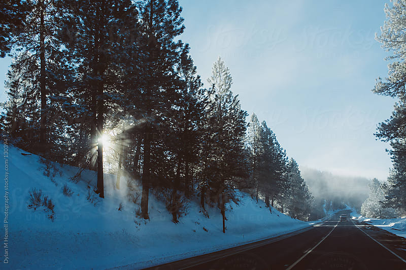 Winter Roads by Dylan M Howell Photography for Stocksy United