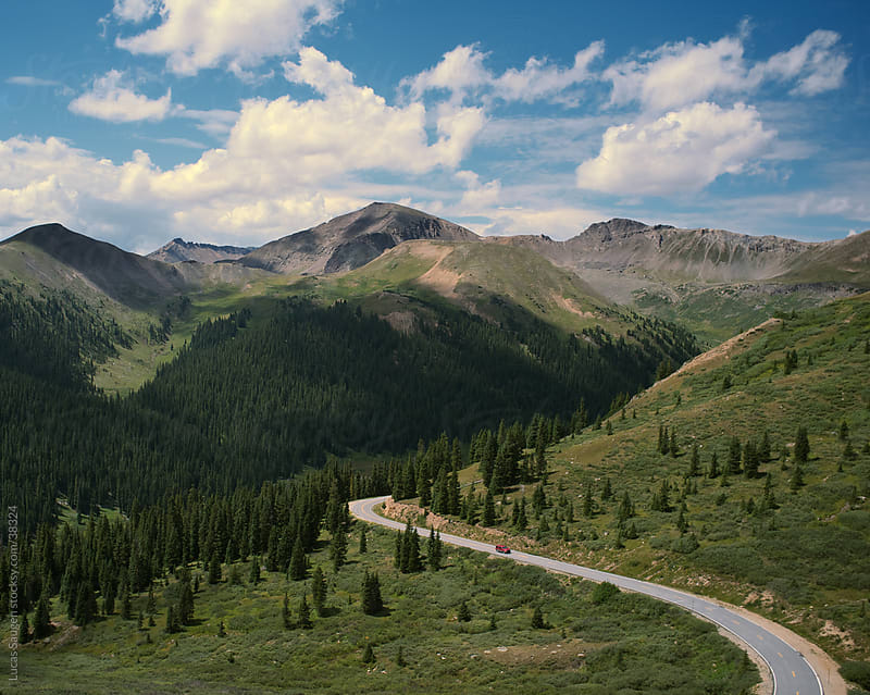 Mountain Road in Colorado by Lucas Saugen for Stocksy United