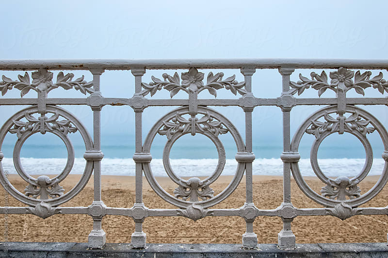 Fence Besides the Sea, San Sebastian by Bisual Studio for Stocksy United