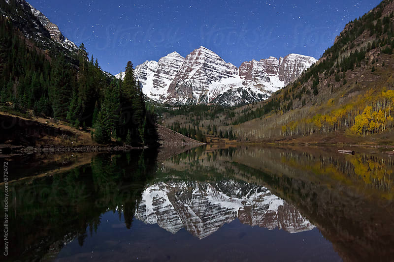 Colorado Maroon Bells by Casey McCallister for Stocksy United