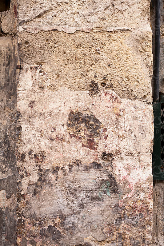 Damaged stone wall by MEM Studio for Stocksy United