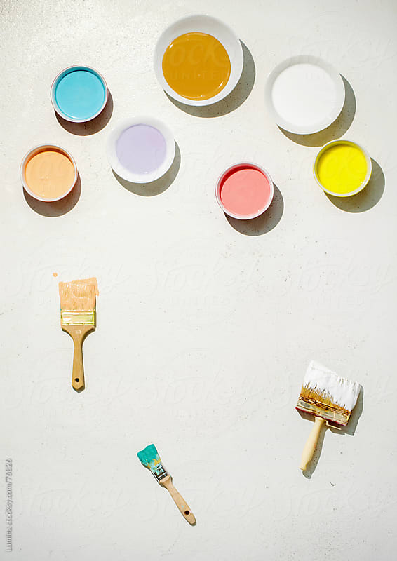 Paints and Brushes by Lumina for Stocksy United