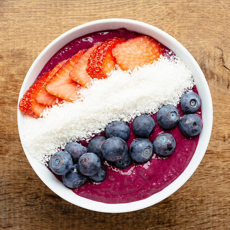 Blackberry Smoothie Bowl by Harald Walker for Stocksy United