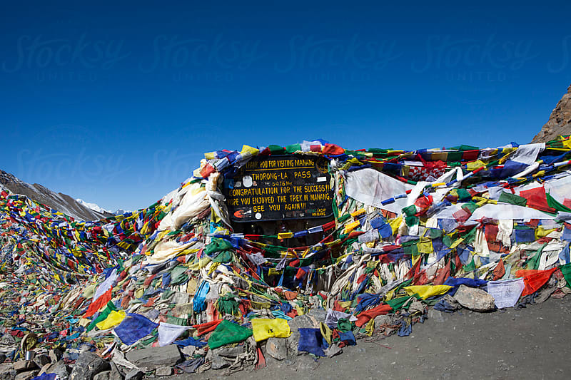 Thorong La Pass, 5416m. Annapurna Circuit Trek, Nepal. by Shikhar Bhattarai for Stocksy United