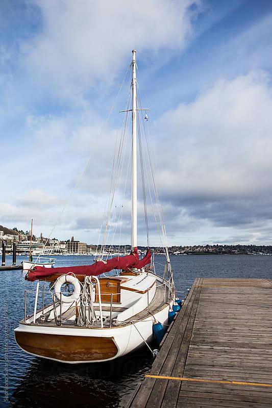 Yacht on the marina dock by Suprijono Suharjoto for Stocksy United