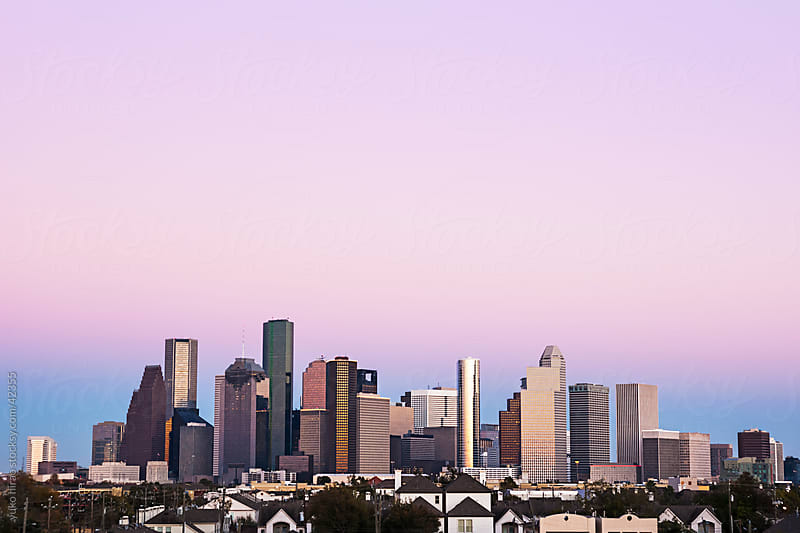 Houston skyline in twilight by yuko hirao for Stocksy United