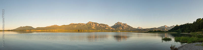 Forggensee lake panorama by Peter Wey for Stocksy United