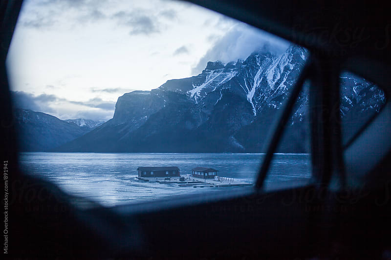 Lake Minnewanka by Michael Overbeck for Stocksy United