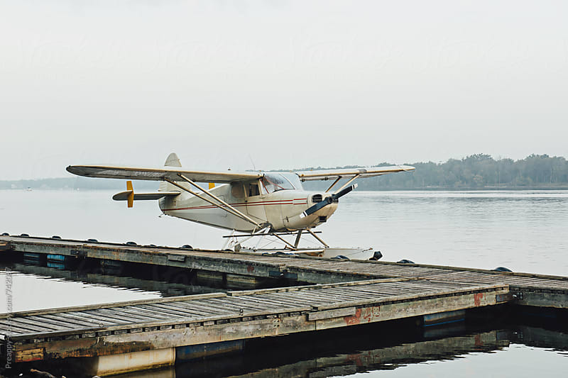 Seaplane on the dock by Preappy for Stocksy United
