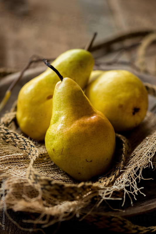 Barlett Pears in Rustic Setting by Studio Six for Stocksy United
