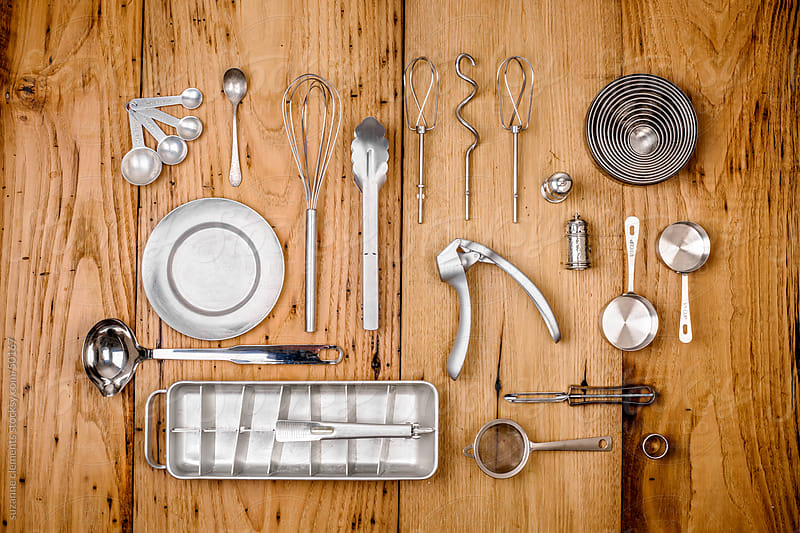 Kitchen Utensils and Tools Organized and Composed by suzanne clements for Stocksy United