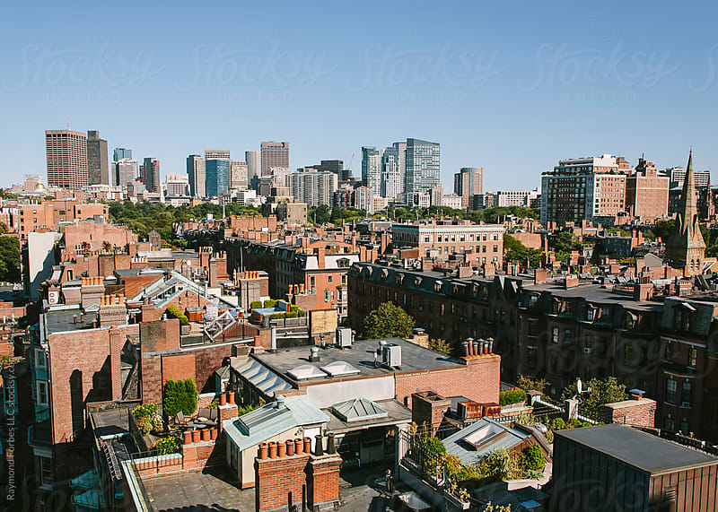 View from Back Bay to Financial District by Raymond Forbes LLC for Stocksy United