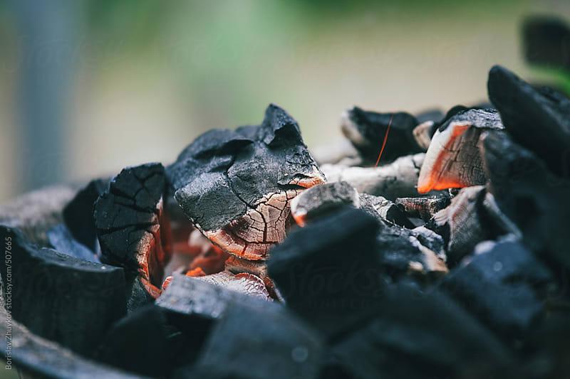 Glowing coal  by Borislav Zhuykov for Stocksy United