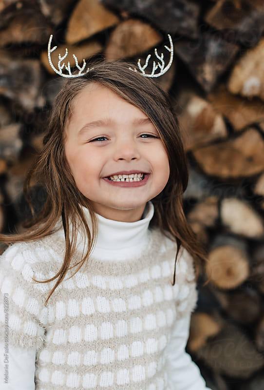 antler tiara by Melanie DeFazio for Stocksy United
