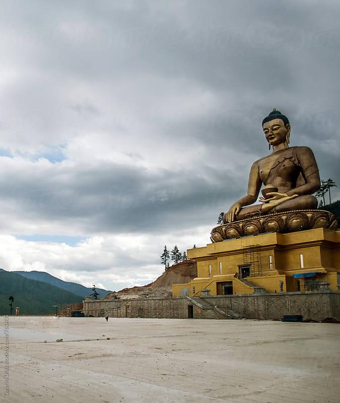 The 169 ft Buddha Dordenma the tallest Buddha in Bhutan. Located in Thimpu, Bhutan by Gabriel Diaz for Stocksy United