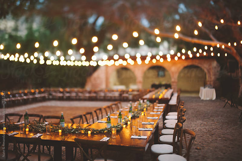 party tables by Nate & Amanda Howard for Stocksy United