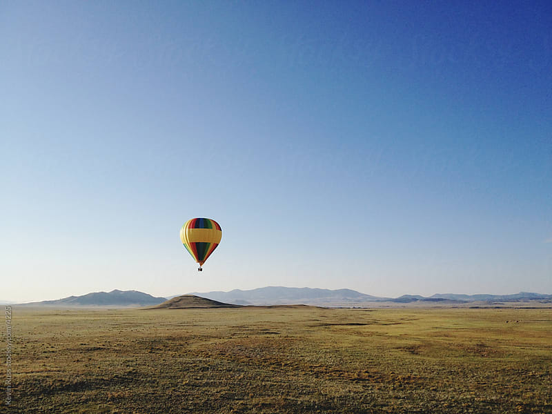 Sunrise Hot Air Balloon by Kevin Russ for Stocksy United