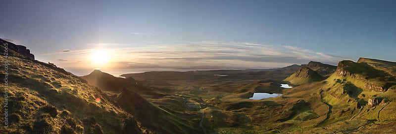 Highlands at sunrise by Leander Nardin for Stocksy United