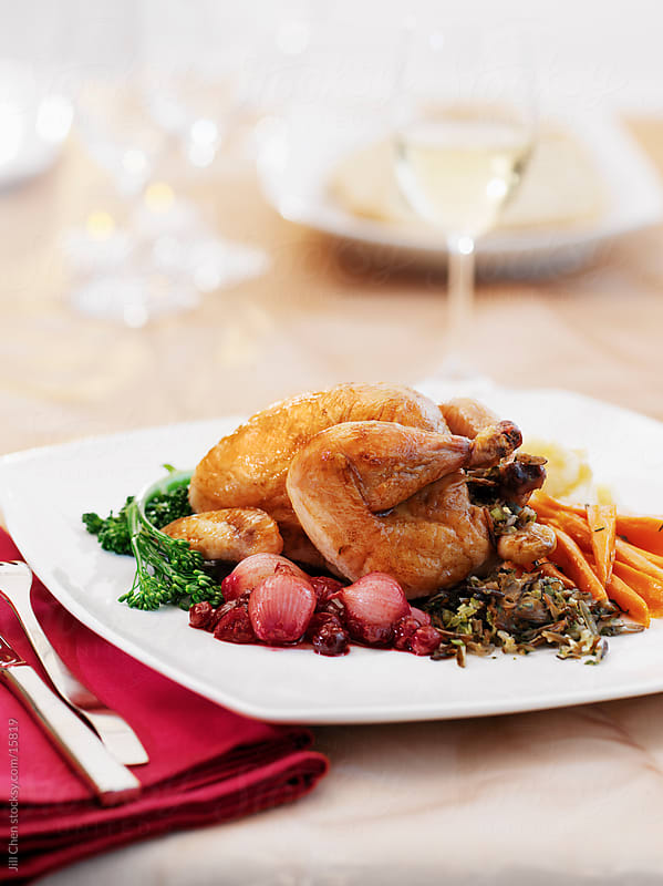 Cornish Hen Dinner by Jill Chen for Stocksy United